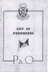 Passenger List Cover