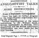 Daily Telegraph 17-7-39 Page 1-2
