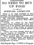 Daily Telegraph 31-8-39 Page 1-2