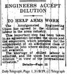 Daily Telegraph 31-8-39 Page 1-3